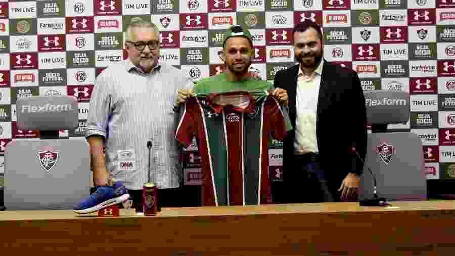 Wellington Nem é apresentado no Fluminense: cria da casa de volta - Mailson Santana/Fluminense