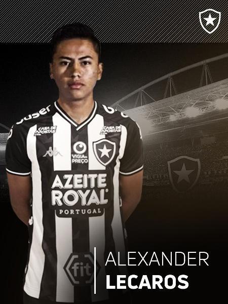 Alexander Lecaros, atacante peruano, é apresentado pelo Botafogo - Divulgação/Botafogo