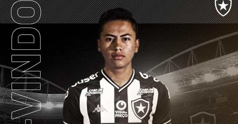 Alexander Lecaros, atacante peruano, é apresentado pelo Botafogo