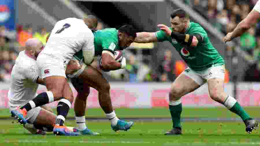 Seleção de rúgbi da Irlanda em jogo contra a Inglaterra pelo torneio Six Nations - Billy Stickland/INPHO/Divulgação