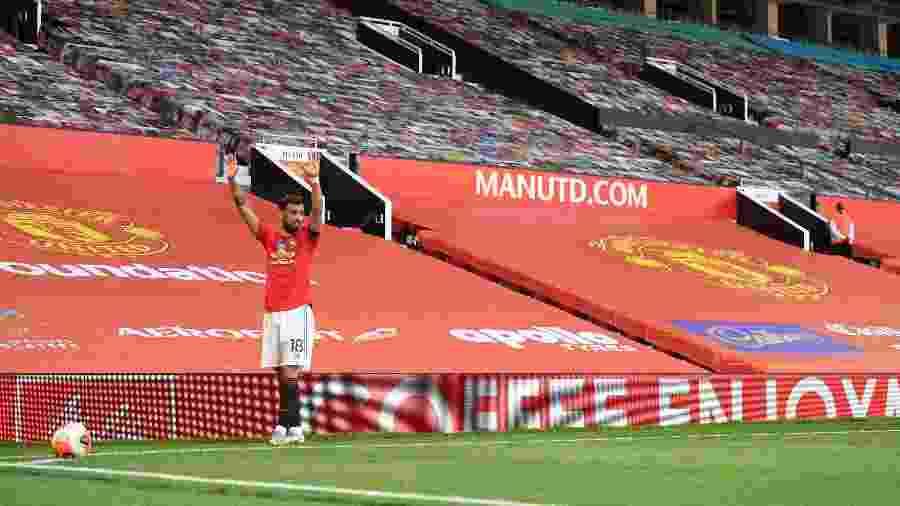 Bruno Fernandes assumiu posto de liderança no United: cobra escanteio, pênalti e se destaca - Michael Regan/Getty Images