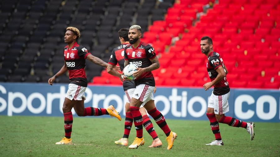 Gabigol, do Flamengo, no empate contra o Botafogo pelo Brasileirão 2020 - Alexandre Vidal/Flamengo
