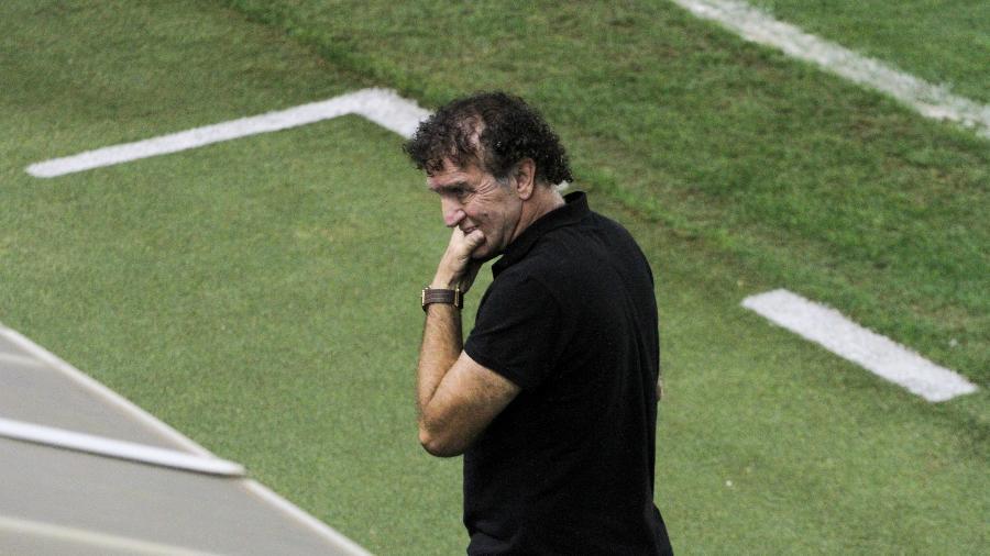 Cuca lamenta chance perdida pelo Santos na partida contra o Fortaleza - Fernanda Luz/AGIF