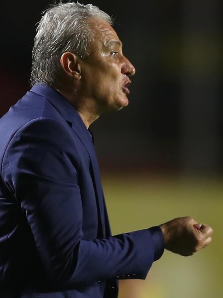 O técnico da seleção brasileira Tite durante partida contra a Venezuela em novembro de 2020 - Fernando Bizerra - Pool/Getty Images