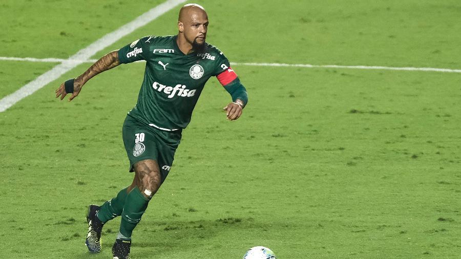 Felipe Melo, durante o clássico entre São Paulo e Palmeiras - Marcello Zambrana/AGIF