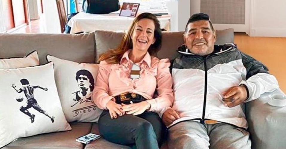 Maradona e a empresária Jasmín Garbini