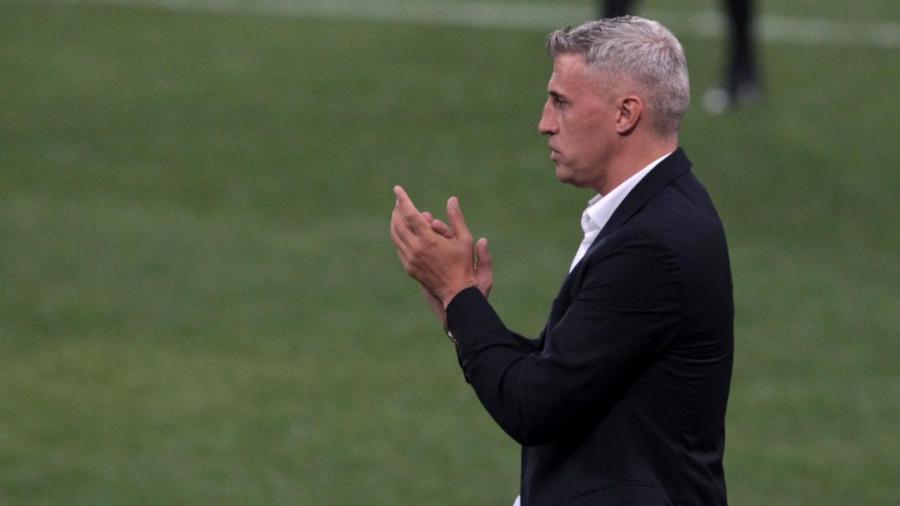 Hernán Crespo, técnico do São Paulo, durante partida da equipe no Paulistão - Rubens Chiri / saopaulofc.net