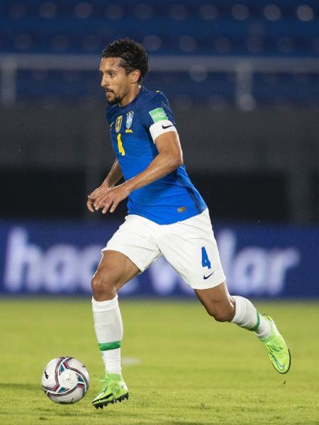 Marquinhos, zagueiro da seleção brasileira, que foi capitão contra o Paraguai - Lucas Figueiredo/CBF