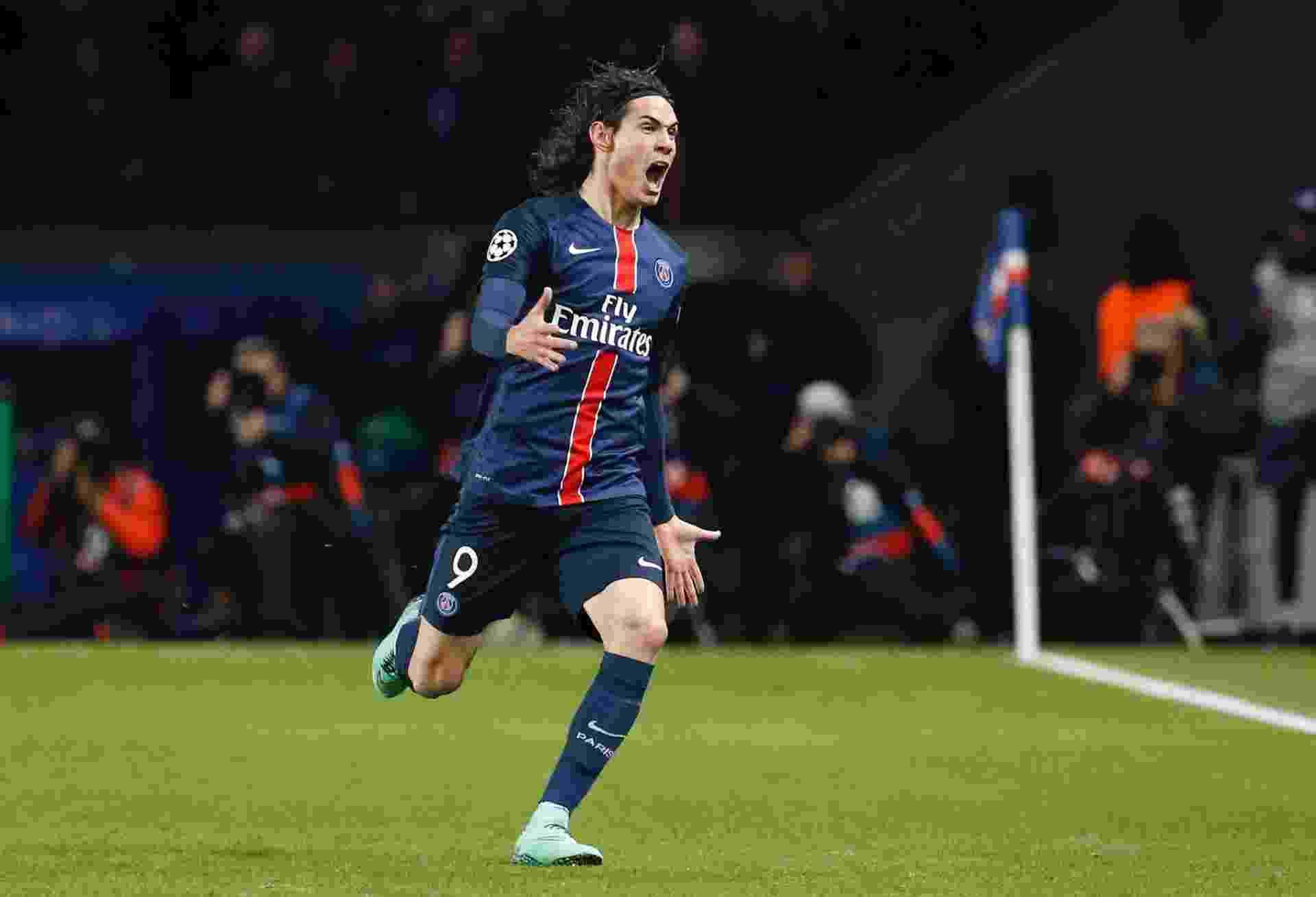 Edinson Cavani marcou o gol da vitória do PSG sobre o Chelsea pela Liga dos Campeões - Gonzalo Fuentes/Reteurs