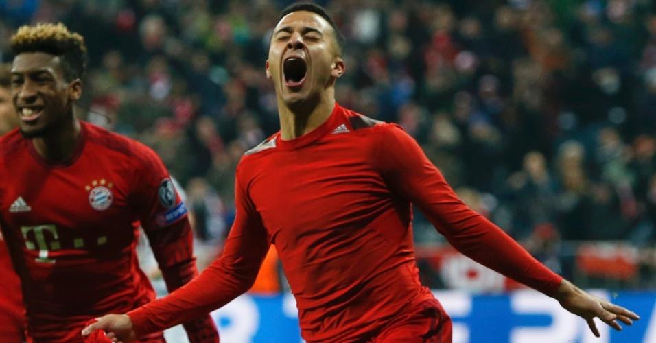 Thiago Alcântara marcou o gol da virada do Bayern de Munique contra a Juventus pela Liga dos Campeões