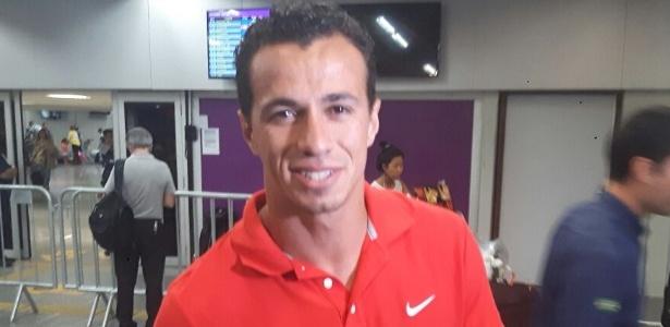O atacante Leandro Damião desembarcou nesta segunda-feira (11) no Rio de Janeiro