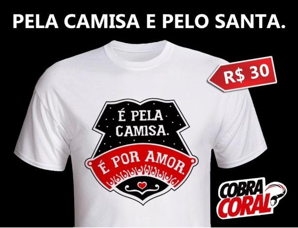Santa Cruz lança camiseta para ajudar no pagamento das dívidas do clube