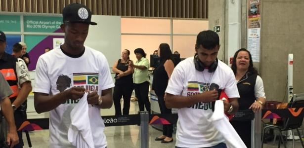 Chegada de Orejuela e Sornoza no Rio de Janeiro