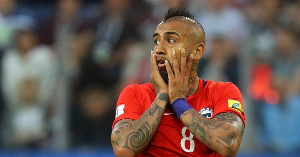 Vidal lamenta; Chile errou no gol da Alemanha