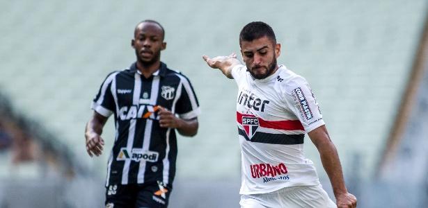 Liziero em ação pelo São Paulo neste Campeonato Brasileiro