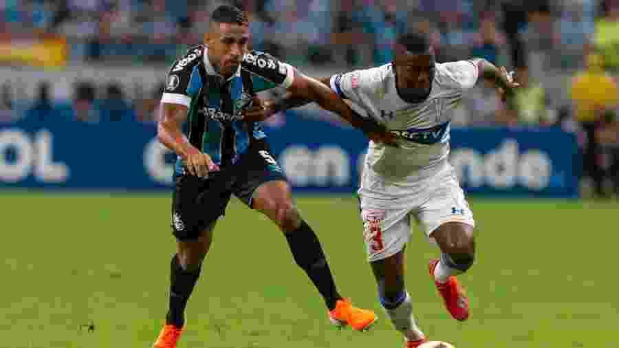 Michel não participou da atividade de hoje com os colegas de Grêmio no CT do clube - Jeferson Guareze/AGIF