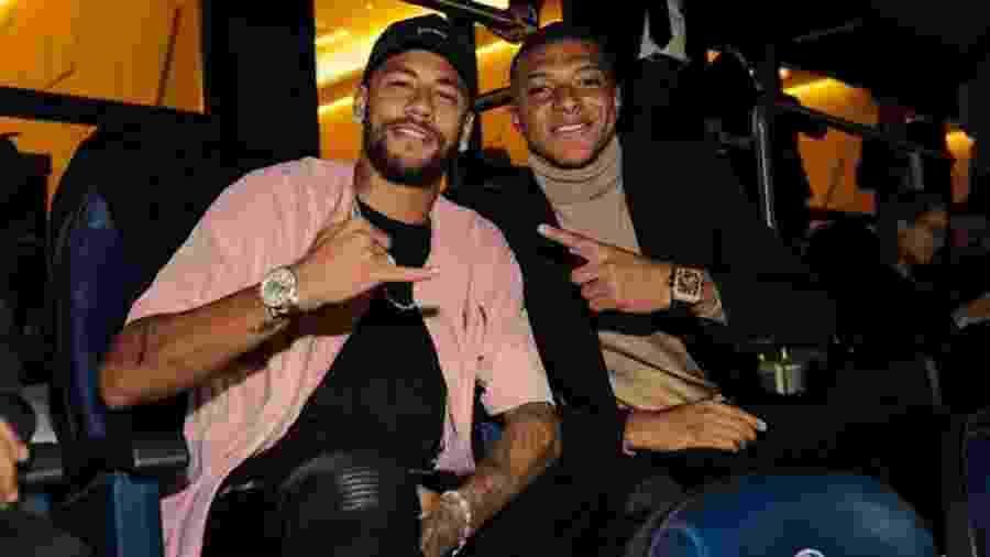 Neymar Mbappé camarote PSG x Real Madrid - Reprodução/Twitter