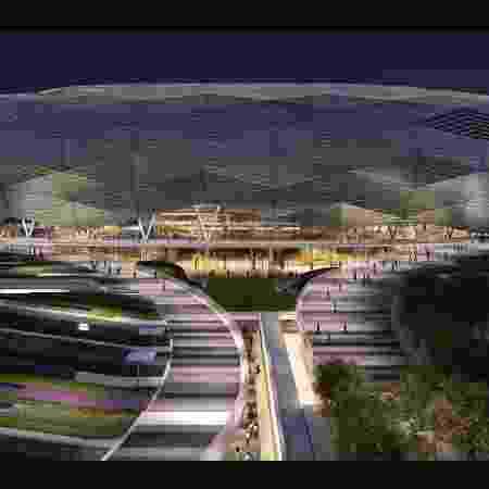 Estádio Cidade da Educação, no Qatar. Copa de 2022 está no pacote da Globo - Divulgação/Fifa