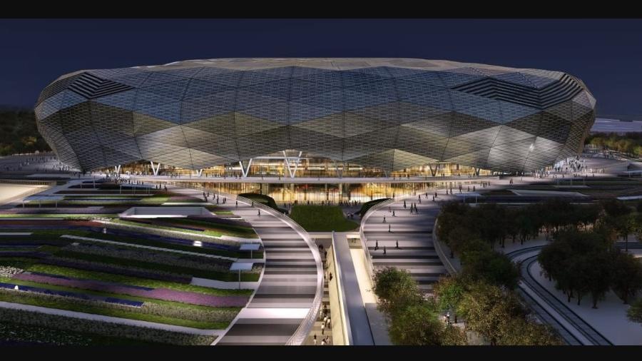 Estádio Cidade da Educação, no Qatar; governo local quer imunizar torcedores antes da competição - Divulgação/Fifa
