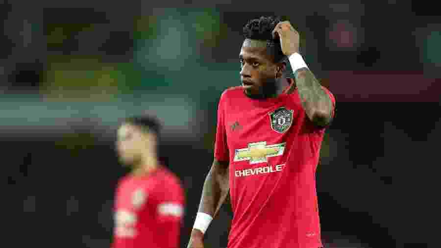 Fred em ação com a camisa do Manchester United pelo Campeonato Inglês - James Williamson/AMA/Getty Images