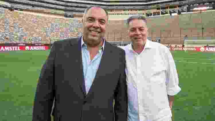 Marcos Braz e Paulo Pelaipe: parceria desfeita no Flamengo - Foto: Alexandre Vidal / Flamengo - Foto: Alexandre Vidal / Flamengo