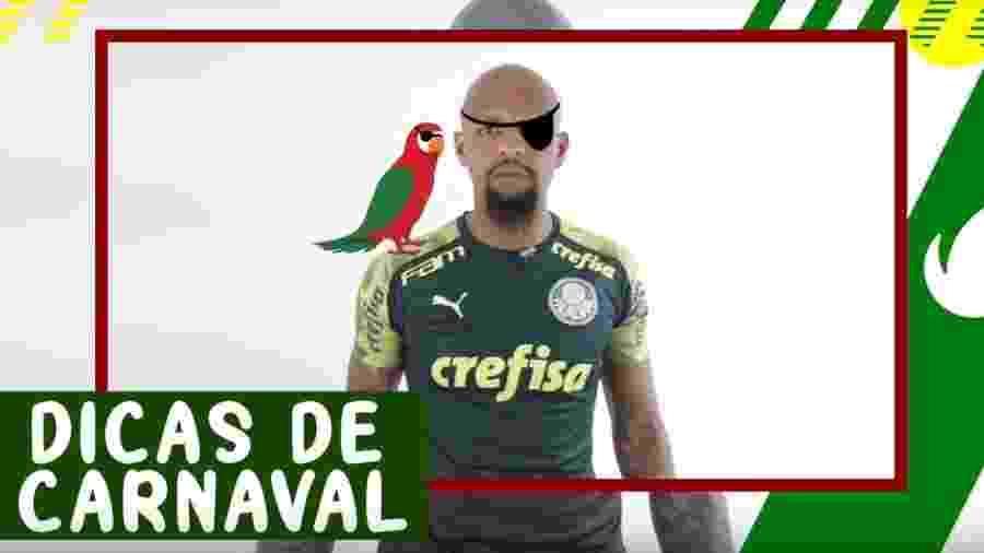 Felipe Melo em vídeo de Carnaval do Palmeiras - Reprodução / Youtube