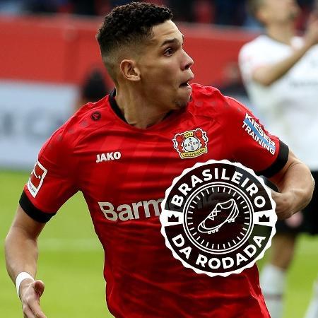 Paulinho fez dois gols e deu assistência, comandando a goleada do Bayer Leverkusen - Montagem sobre Joachim Bywaletz/Xinhua