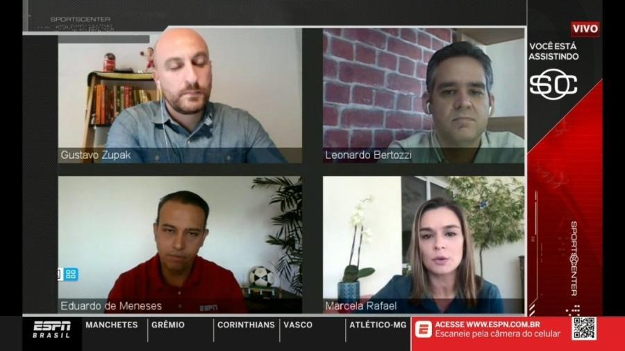 ESPN realiza o SportsCenter com jornalistas em suas casas, usando comunicação via Skype - Reprodução