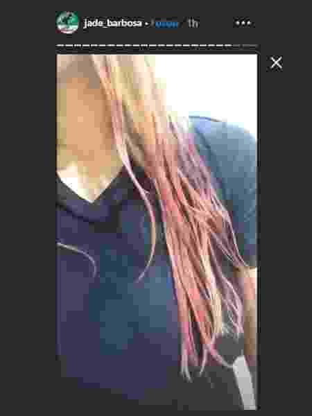 Jade Barbosa pinta os cabelos de rosa - Reprodução/Instagram