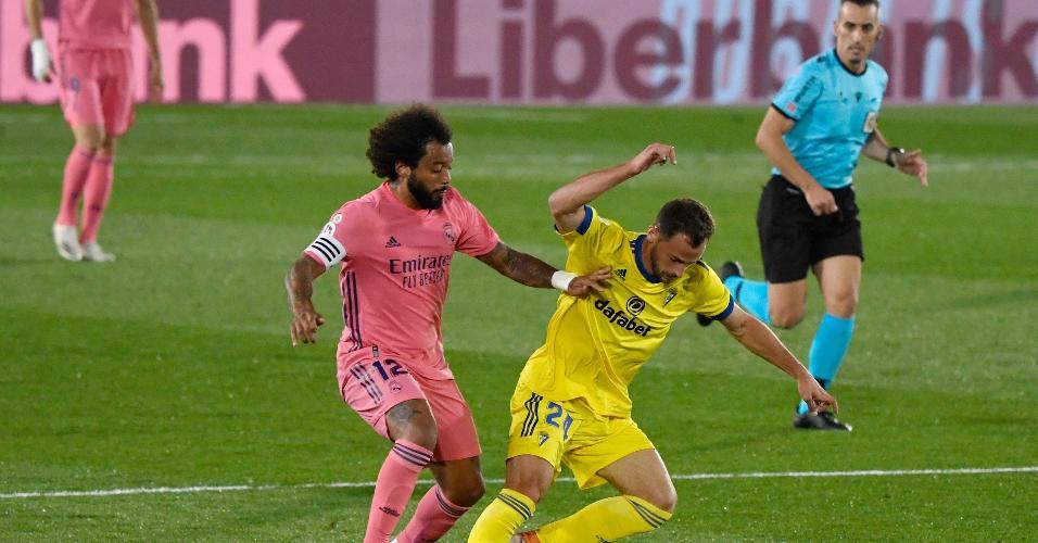 Marcelo não fez um bom jogo contra o Cádiz