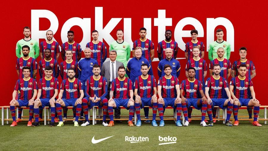 Foto oficial do Barcelona da temporada 2020-2021 - Barcelona