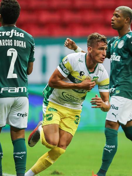 Braian Romero comemora gol do Defensa y Justicia contra o Palmeiras, pela Recopa Sul-Americana - Divulgação / Conmebol