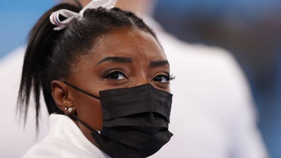 Simone Biles abriu mão de finais em Tóquio dizendo que precisava se concentrar em sua saúde mental - Getty Images