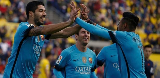 Suárez exaltou o ótimo clima com seus companheiros de ataque no Barcelona