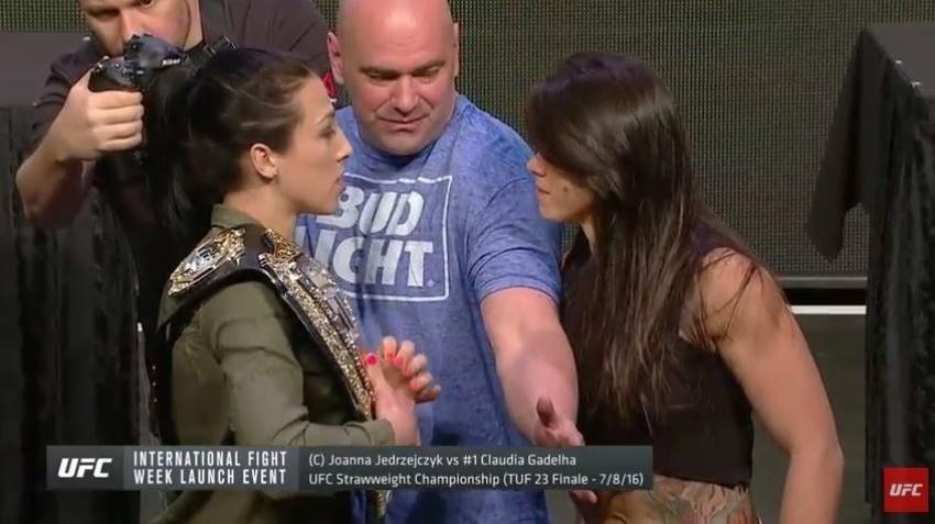 Brasileira Claudia Gadelha encara Joanna Jedrzejczyk, atual dona do cinturão peso palha feminino do UFC