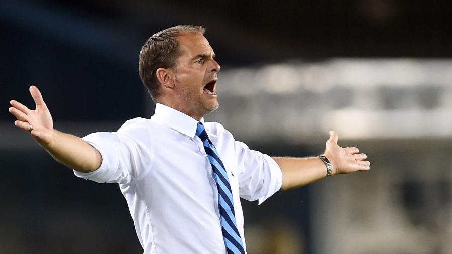 Frank de Boer, técnico da Internazionale - AFP PHOTO / Giuseppe Cacace