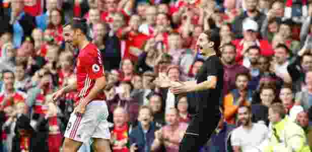Sósia de Ibrahimovic se aproxima de ídolo em Manchester United x Leicester City - Carl Recine/Reuters - Carl Recine/Reuters