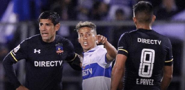 Esteban Pavez e Diego Buonanotte se estranharam na Copa do Chile