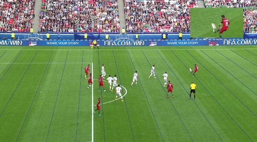 Replay da Fifa mostrou impedimento que anulou gol marcado pela seleção de Portugal