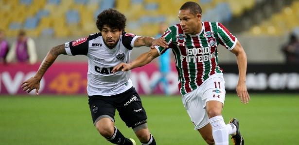 Wellington em ação pelo Fluminense em jogo contra o Atlético-MG, no Brasileirão