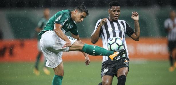 Forte chuva caiu durante clássico Palmeiras e Santos, disputado em setembro do ano passado