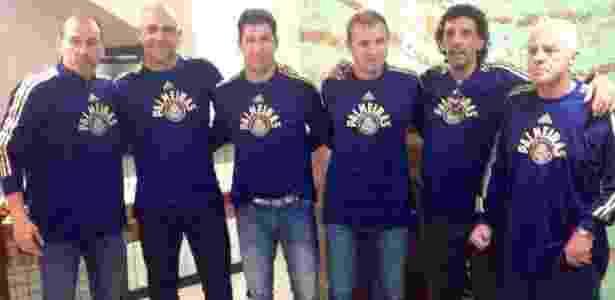 Encontro de ex-goleiros do Palmeiras: Ivan, Marcos, Sérgio, Velloso, João Marcos e Chicão - Reprodução/Facebook - Reprodução/Facebook