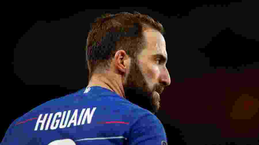 Gonzalo Higuaín, em sua estreia pelo Chelsea, contra o Sheffield Wednesday - Andrew Boyers/Reuters
