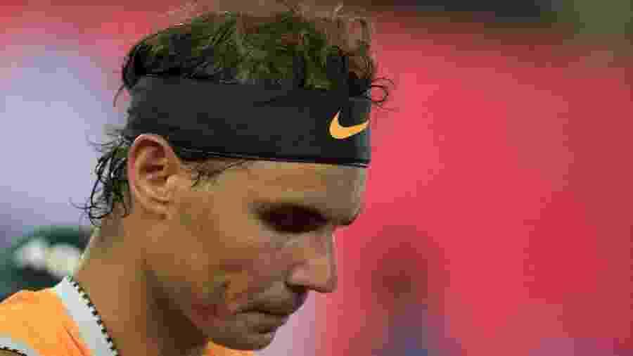 Rafael Nadal se lamenta durante a final do Aberto da Austrália - Xinhua/Hu Jingchen