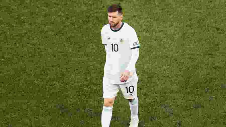 Lionel Messi foi expulso no primeiro tempo da partida - Ueslei Marcelino/Reuters
