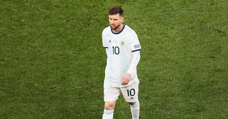Messi foi expulso no primeiro tempo da partida