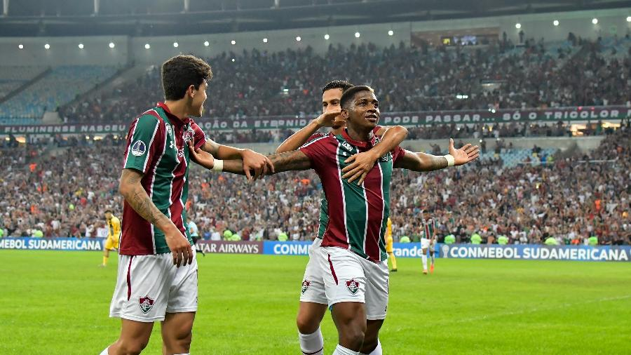 Yony González comemora gol do Fluminense contra o Peñarol -     Thiago Ribeiro/AGIF