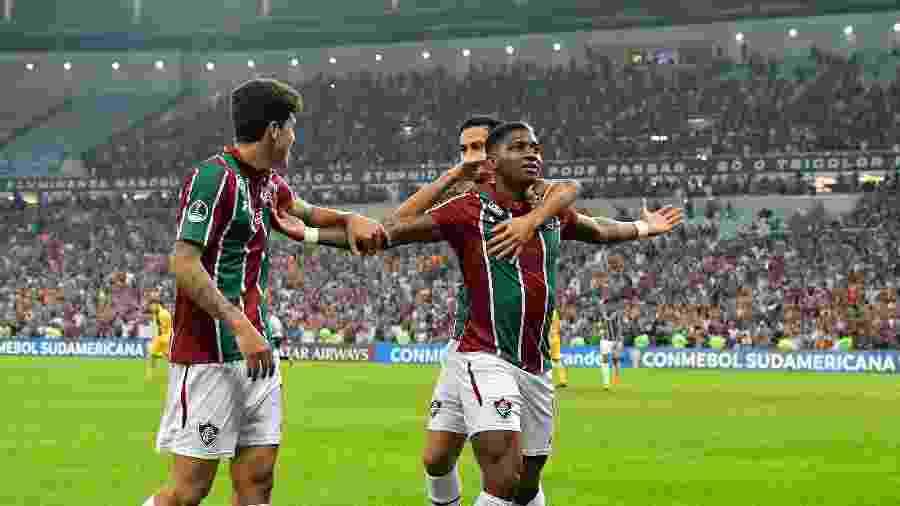 Yony comemora um de seus 15 gols em 2019: Fluminense tenta renovar com colombiano -     Thiago Ribeiro/AGIF