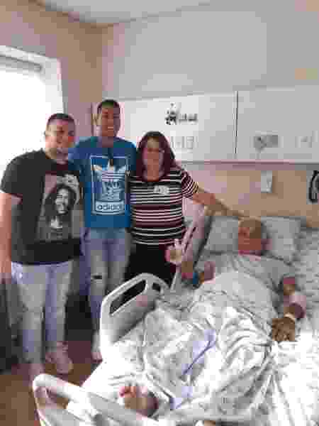 Ralf fez uma visita ao senhor e ajudou a transferi-lo de hospital - Arquivo pessoal