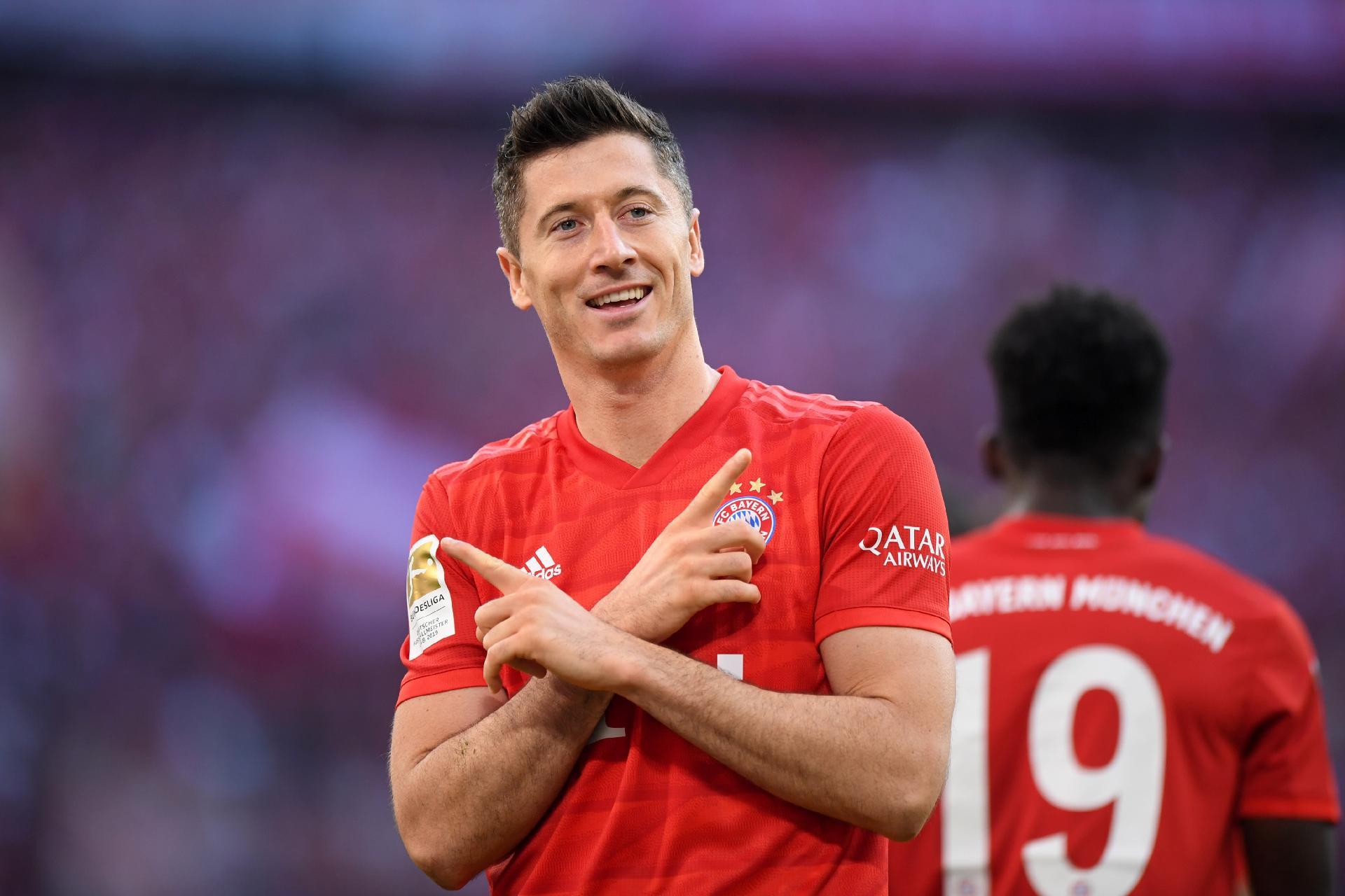 Robert Lewandowski marcou seu 71º gol na Liga dos Campeões